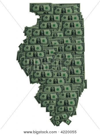 Illinois Dollar Outline