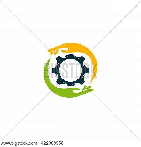 Care Service Logo Designs Vector, Gear Logo Designs Vector