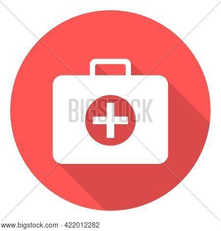 Doctor Suitcase, Medical Suitcase Icon. Vector, Cartoon Illustration. Vector.