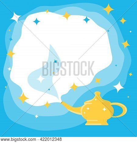 Aladdin's Magic Lamp. Aladdin's Magic Lamp Icon. Vector, Cartoon Illustration. Vector.