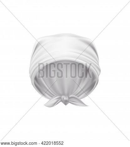 Realistic Icon Of White Head Kerchief Vector Illustration