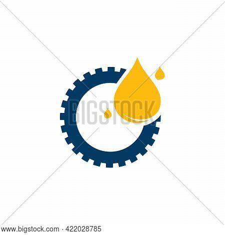 Oil Industry Logo Designs Concept Vector, Oil Gear Machine Logo Template Symbol
