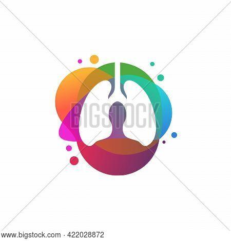 Colorful Lungs Logo Vector, Health Lungs Logo Designs Template, Design Concept, Logo, Logotype Eleme