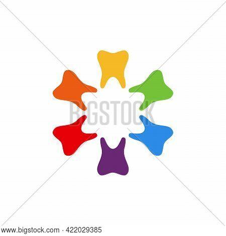 Star Dental Logo Designs, Colorful Dental Logo Template