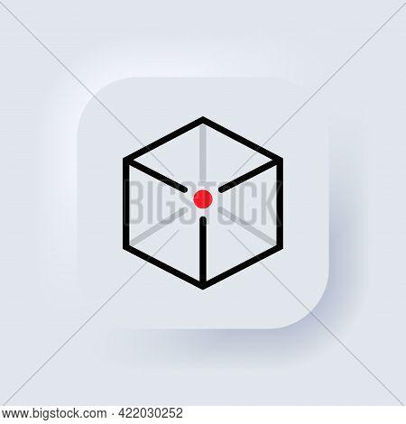 Augmented Reality Icon. Concept Ar Symbol. Neumorphic Ui Ux White User Interface Web Button. Neumorp