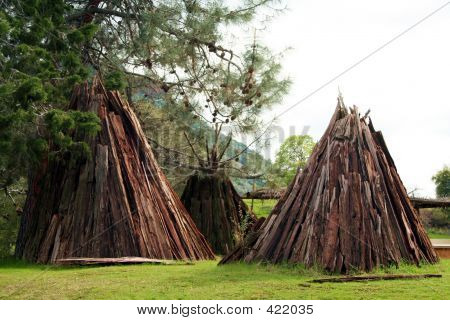 Tee Pee Shaped Huts
