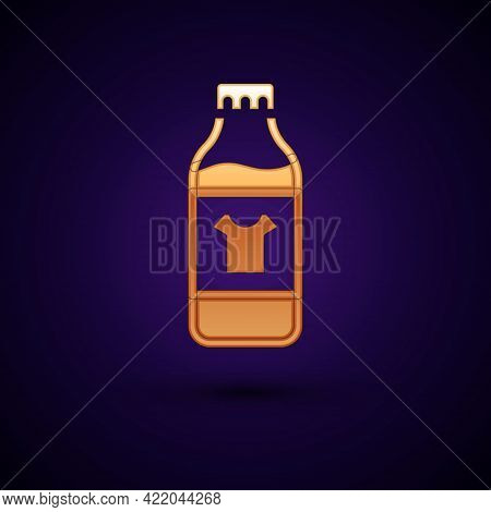 Gold Plastic Bottle For Laundry Detergent, Bleach, Dishwashing Liquid Or Another Cleaning Agent Icon