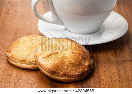 Cottage Cheese Cookies With Cappuchino Cup