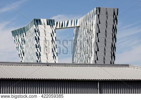 Copenhagen, Denmark - June 16, 2013: The Bella Sky Marriott Hotel Is A 4-star Conference Hotel Adjac