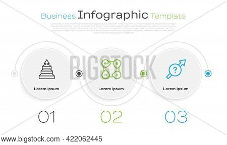 Set Line Pyramid Chart Infographics, Infographic Element And Arrow. Business Infographic Template. V
