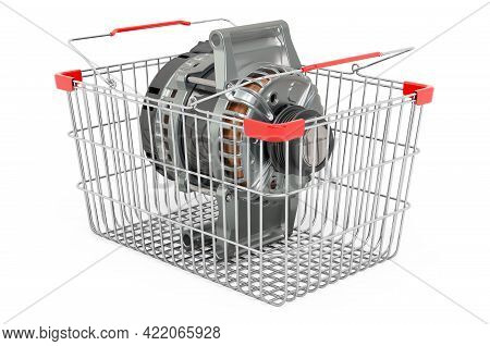 Shopping Basket With Starter, 3d Rendering Isolated On White Background
