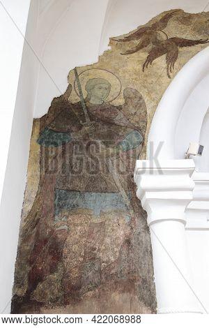 Sergiyev Posad, Russia - 19.05.2021: The Dormition Church Trinity Lavra Of St. Sergius, Interior Of