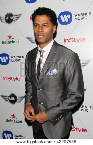 LOS ANGELES - FEB 10:  Eric Benet arrives at the Warner Music Group post Grammy party at the Chateau Marmont  on February 10, 2013 in Los Angeles, CA..