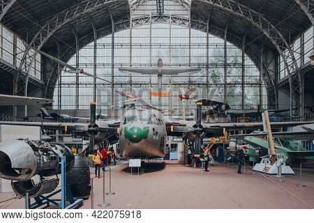 Brussels, Belgium - August 17, 2019: Fairchild C-119g And Variety Of Military Aircrafts In The Royal