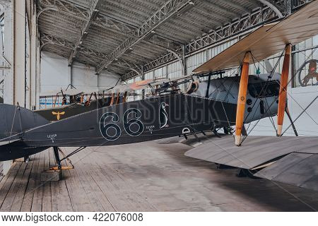 Brussels, Belgium - August 17, 2019: 3rd Reconnaissance Squadron Sopwith 1½ Strutter British Biplane