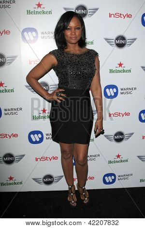 LOS ANGELES - FEB 10:  Garcelle Beauvais arrives at the Warner Music Group post Grammy party at the Chateau Marmont  on February 10, 2013 in Los Angeles, CA..