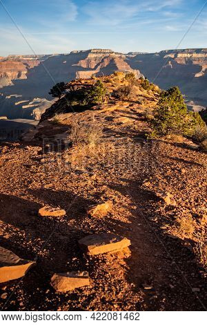 Path Out To Cedar Ridge Plateau In The Grand Canyon