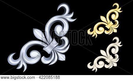 Gypsum, Gold, Silver Metal Products, Stucco Weave, Pattern Isolated