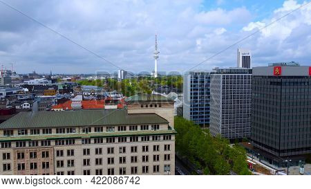 The Beautiful City Center Of Hamburg With Alster River Lake - Aerial Photography - City Of Hamburg,