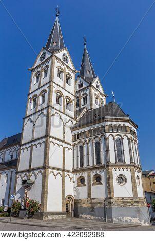 Basilika St. Severus Church On The Market Square Of Boppard, Germany