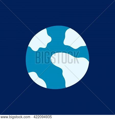 Planet. Vector Illustration, Icon, Suitable For Sites Presentations Eps10