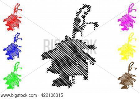 Abilene City, Texas (united States Cities, United States Of America, Usa City) Map Vector Illustrati
