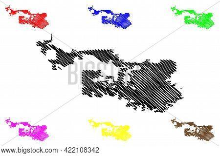 Arvada City, Colorado (united States Cities, United States Of America, Usa City) Map Vector Illustra