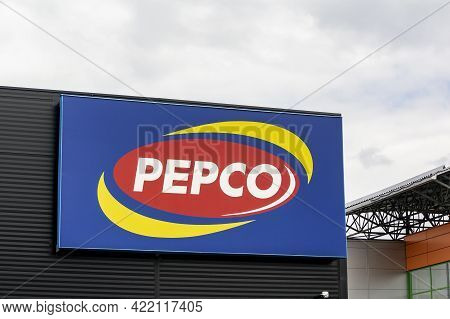 Ostrava, Czech Republic - May 3, 2021: The Banner Of Pepco Store Which Sells Clothes, Toys, Decorati