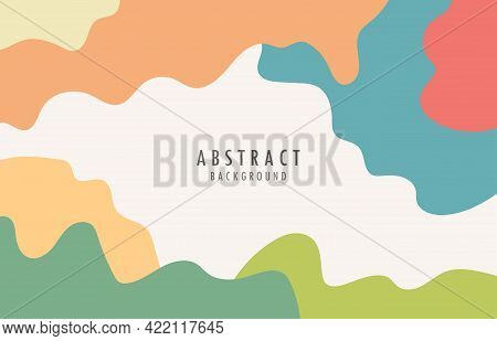Abstract Organic Style Shape Template. Retro Design With Colorful Style Background. Illustration