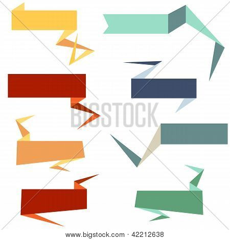 Origami Style Web And Text Banners