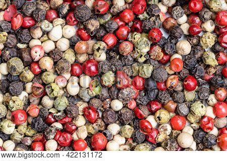 Food Background - Four Pepper Blend Peppercorns