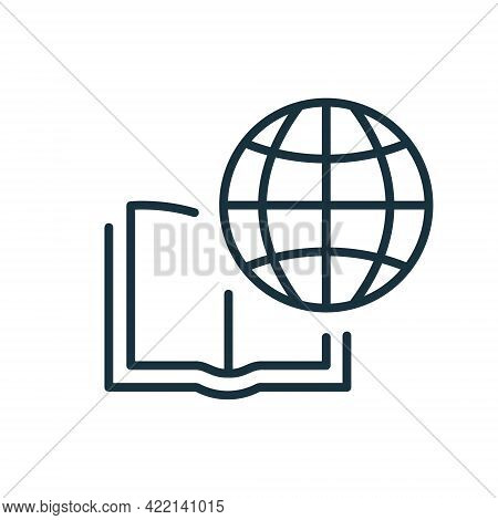 International Education Line Icon. Global Learning, Distance Education And Online Courses. Academy O
