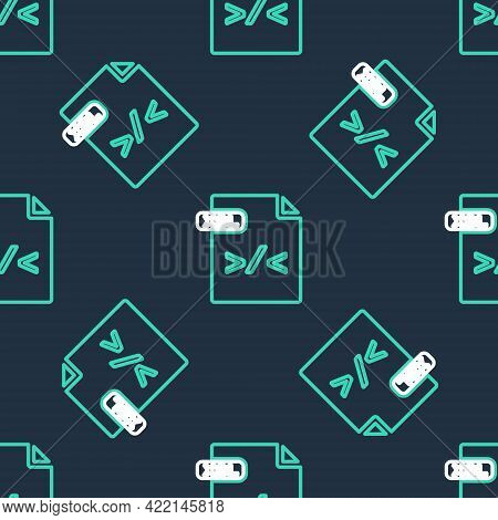 Line Xsl File Document. Download Xsl Button Icon Isolated Seamless Pattern On Black Background. Exce