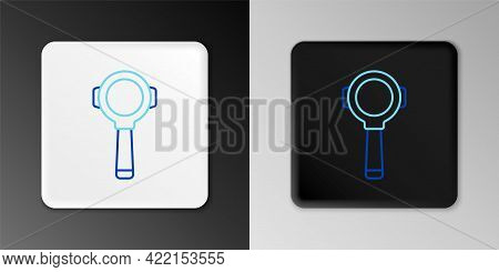 Line Coffee Filter Holder Icon Isolated On Grey Background. Colorful Outline Concept. Vector