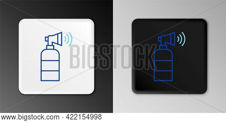 Line Air Horn Icon Isolated On Grey Background. Sport Fans Or Citizens Against Government And Corrup