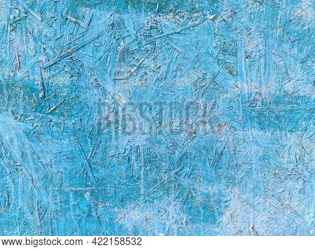 Chipboard Painted In Turquoise Color. Textures And Backgrounds