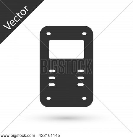 Grey Police Assault Shield Icon Isolated On White Background. Vector