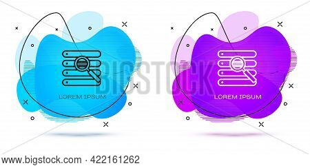 Line Search In A Browser Window Icon Isolated On White Background. Abstract Banner With Liquid Shape