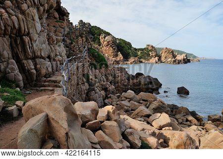 View Of Path To Li Cossi Beach