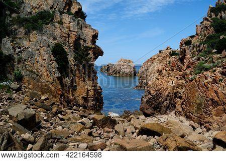 View Of The Coast Between Li Cossi And Cala Tinnari