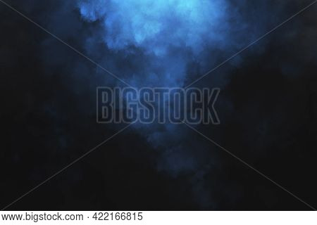 Abstract Colored Dust Explosion On A Black Background. Abstract Powder Splatted Background, Freeze M