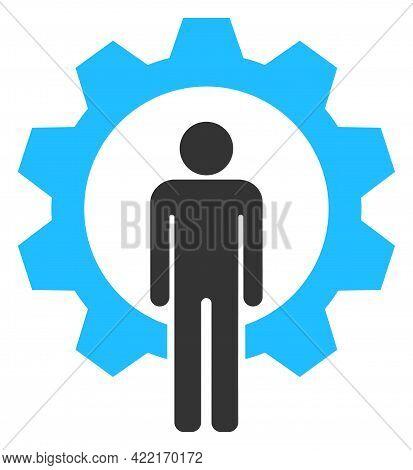 Human Resources Vector Illustration. A Flat Illustration Design Of Human Resources Icon On A White B