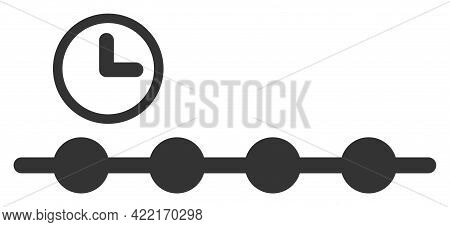 Timeline Vector Illustration. A Flat Illustration Design Of Timeline Icon On A White Background.