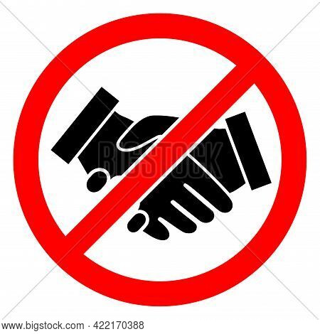 Stop Handshakes Vector Illustration. A Flat Illustration Design Of Stop Handshakes Icon On A White B