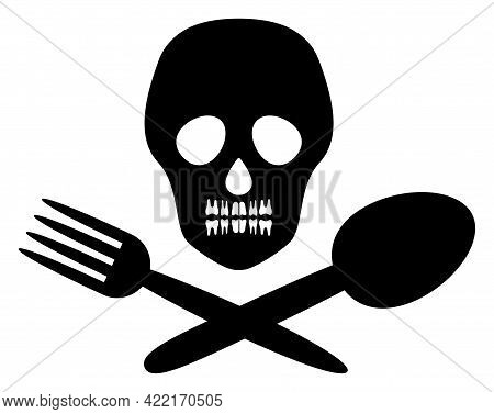 Toxic Food Vector Illustration. A Flat Illustration Design Of Toxic Food Icon On A White Background.