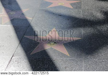 Los Angeles, Ca, Usa, 2.09.2020 - Pierce Brosnan Star On Hollywood Walk Of Fame. Stars Of Famous Peo
