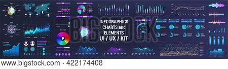 Colorful Ui, Ux, Gui Interface Elements Collection. Dashboard User Interface Elements. Graphics Coll