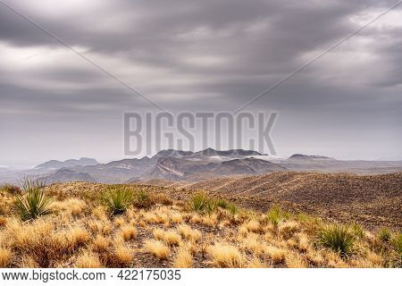 Rainy Day View From Sotol Vista Overlook In Big Bend National Park