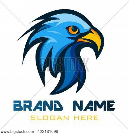 Eagle Head Vector Illustration, Can Be Used For Mascot, Logo, Apparel And More. Bald Eagle Illustrat
