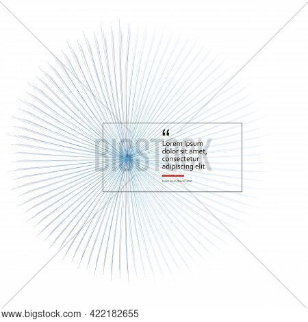 Blue Circle Vector Sunburst. Color Sunbeams. Lines Outgoing From Center And Located In Circle. Frame